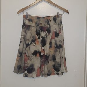 Flowy skirt with unique colors and pattern.